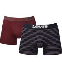 levis boxershort 200sf 2-pak stripe rood
