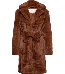 viboda new faux fur coat/pb/su outerwear faux fur brun vila
