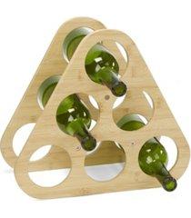 mind reader pyramid wine rack for 6 bottles