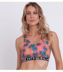 top billabong fit palm feminina