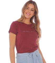 camiseta estampada para mujer x49439