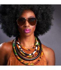 2017 fabric print necklace african tribal ankara handmade jewelry necklace
