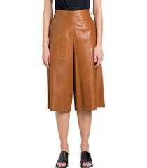arma long leather shorts