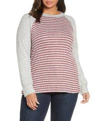 plus size women's loveappella raglan sweater