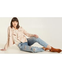 motivi jeans regular con pietre donna blu