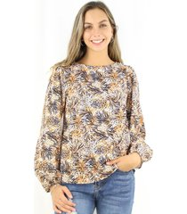 blusa pascuala animal print jacinta tienda