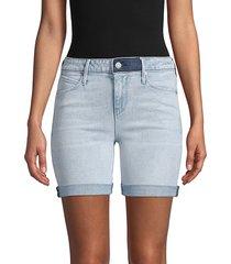 rta women's denim shorts - love light - size 23 (00)