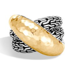 women's john hardy classic chain hammered ring
