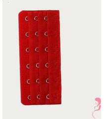op en top zwanger beha / corset verlenger 6 haaks rood (per stuk)