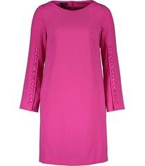 crepe button-detail dress