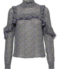 anett blouse blouse lange mouwen paars birgitte herskind