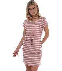 vero moda april stripe dress size 8 in white
