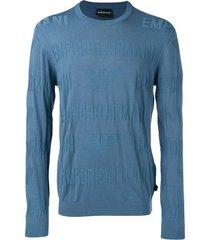 emporio armani blue lightweight sweater