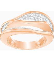 anello hilly, bianco, placcato oro rosa