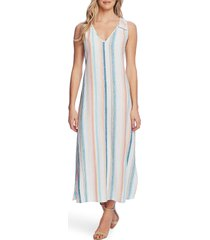 women's vince camuto beach haze stripe sleeveless linen blend dress