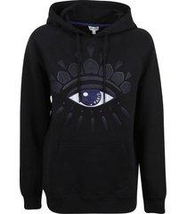kenzo classic eye motif hoodie