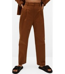 mango cotton pleated pants