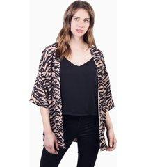 kimono leia animal print zebra jacinta tienda