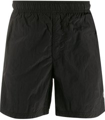 stone island swim shorts - black