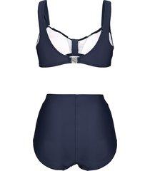 bikini maritim marinblå/vit