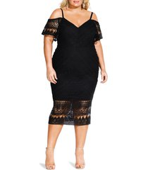 plus size women's city chic impressions lace cocktail dress