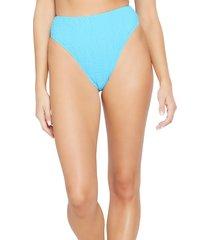 women's l space barlette bitsy bikini bottoms, size x-small - blue