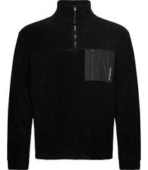 frinck fleece zip sweat-shirts & hoodies fleeces & midlayers zwart woodbird