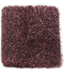 faliero sarti fluffy scarf - red
