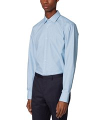 boss men's jesse light pastel blue dress shirt