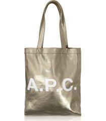 a.p.c. designer handbags, signature lou tote bag