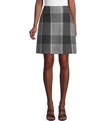 plaid cotton a-line skirt