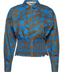 miriamgz shirt ma20 blouse lange mouwen blauw gestuz