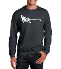 la pop art men's word art metal head crewneck sweatshirt