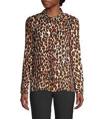 kacey leopard-print blouse