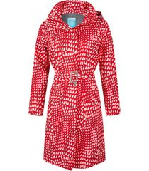 happyrainydays regenjas long coat roxy graphic red white-m
