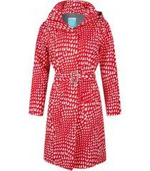 happyrainydays regenjas long coat roxy graphic red white-m