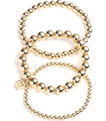 timo gold bracelet set