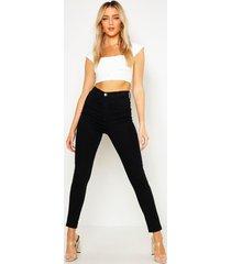 skinny fit disco spijkerbroek, zwart