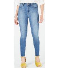 articles of society heather frayed-hem skinny jeans