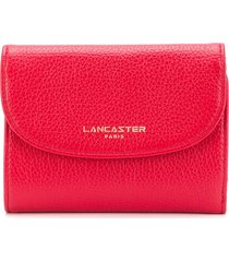 lancaster classic fold over purse - red