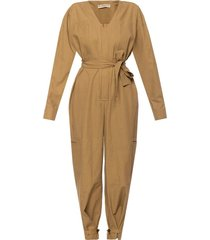 jumpsuit with tie fastening