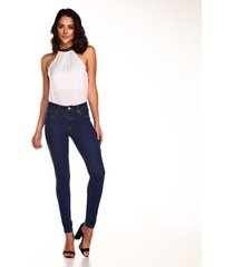calça altoplano jegging jeans azul
