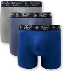 original penguin men's 3-pack cotton stretch boxer briefs