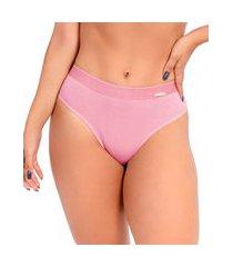 calcinha imi lingerie cós alto cintura alta em algodão ivy rosê rosa