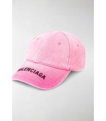 balenciaga logo-embroidered baseball cap