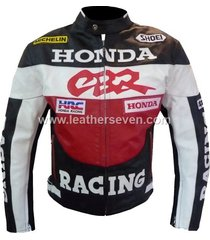 men mens honda cbr leather motorcycle motorbike biker armour jacket