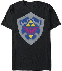 nintendo men's the legend of zelda simple shield short sleeve t-shirt