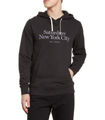 men's saturdays nyc ditch miller embroidered hooded sweatshirt