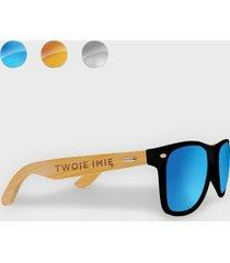 okulary przeciwsłoneczne z oprawkami z twoim imieniem