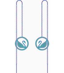 orecchini pop swan, viola, rivestimento pvd lilla